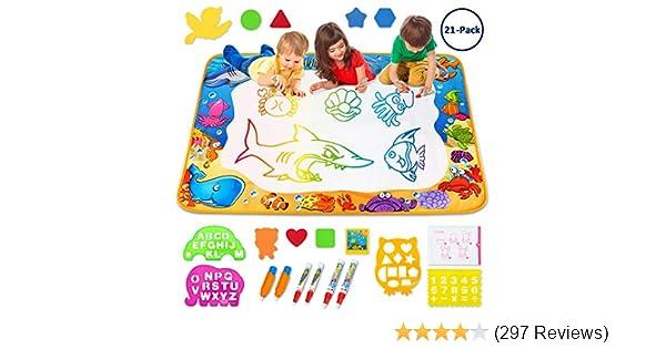 Amazon.com: Toyk Aqua Magic Mat - Kids Painting Writing Doodle Board ...