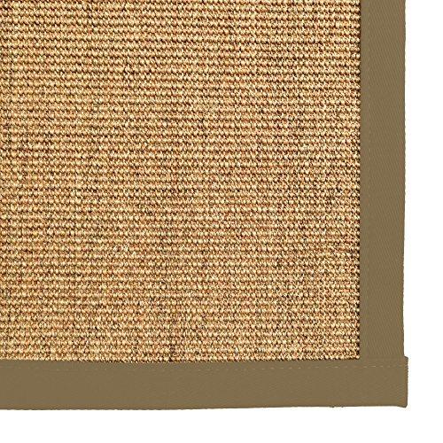 - iCustomRug Natural Fiber Sisal Area Rug 4 Feet X 6 Feet (4 X 6) Custom Cotton Border Carpet in Beige