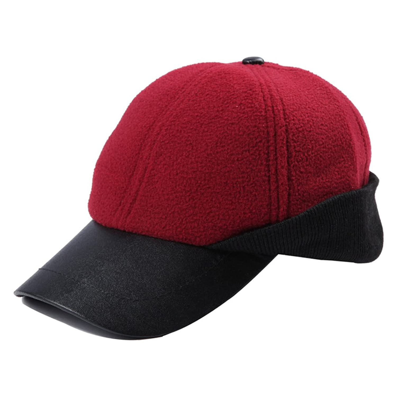Kuyou Unisex Fleece Baseball Cap Winter Mütze Ski Maske Kappe