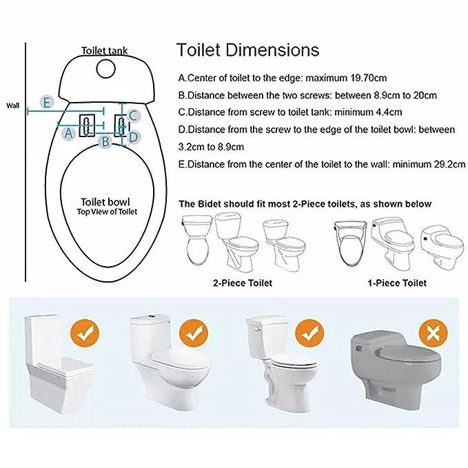 Bidé inodoro fijación, yegu Self Limpieza Sola Boquilla 2 funciones para caliente y fría agua dulce pulverizador mecánica no eléctricos asiento con ...