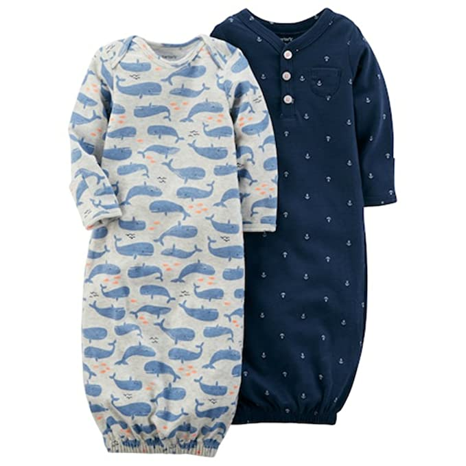 Amazon.com: Carters Baby Boys 2-Pack Whale & Anchor Print Sleeper ...
