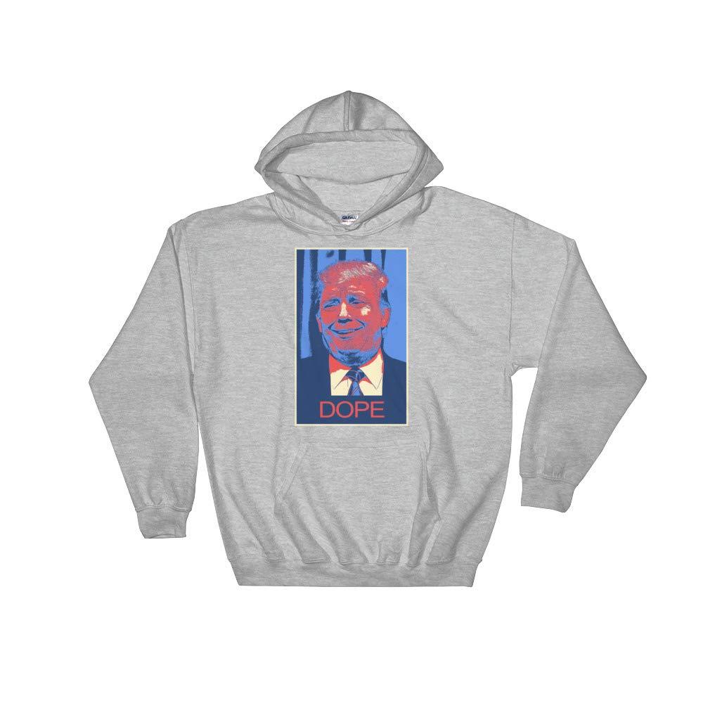 Hooded Sweatshirt Sport Grey Donald Trump Dope 2