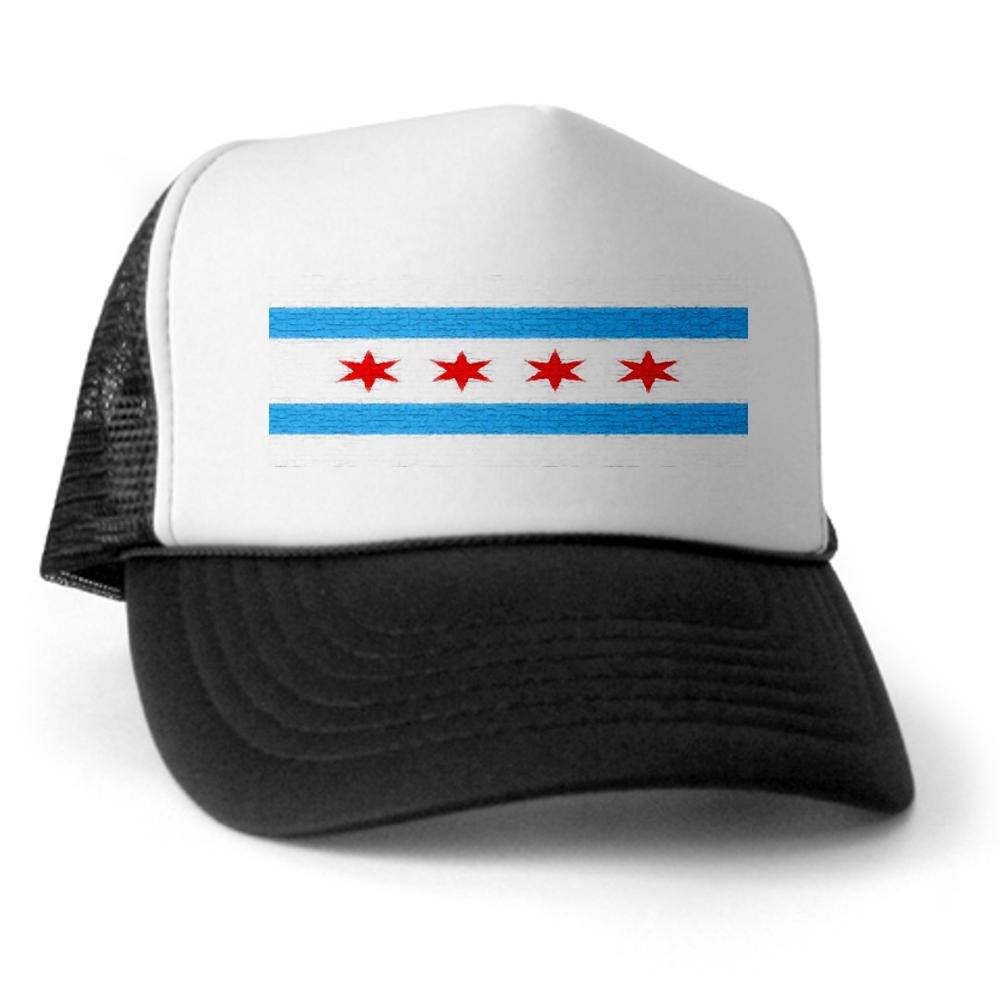 Amazon.com  CafePress - City of Chicago Flag Trucker Hat - Trucker ... dd728cd6ad7