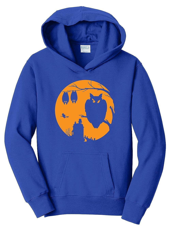 Tenacitee Girls Halloween Moon Hooded Sweatshirt