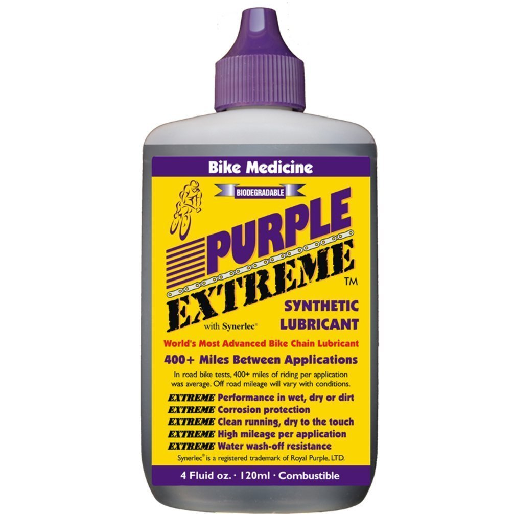 Bike Medicine Purple Extreme Performance Synthetic Chain Lubricant, High Mileage Bicycle Lube by BIKE MEDICINE