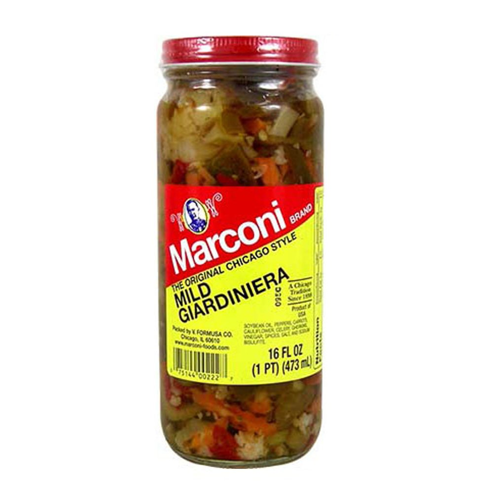 Marconi Giardiniera Mild, 16 Oz (Pack of 12) by Marconi