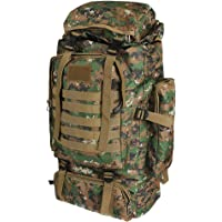 80L Military Tactical Backpack Rucksack Travel Hiking Camping Outdoor Trek Army