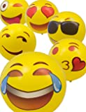 HOMETOOLS.EU® - Emoji Badeball | aufblasbarer Bade-Ball | verschiedene Smileys zur Auswahl - Cool Smile Love Kiss | 45cm