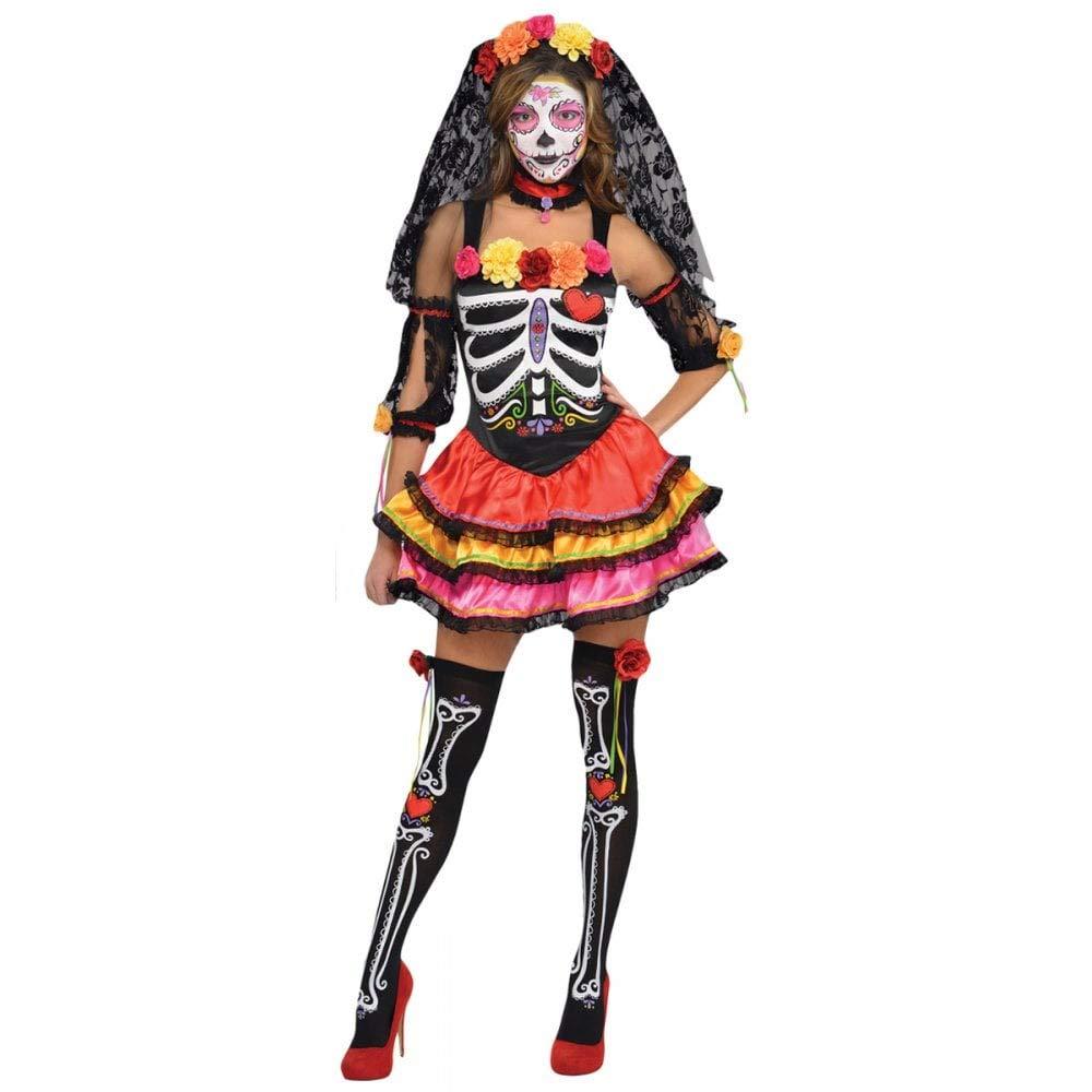 Disfraz Señorita Catrina para mujeres en varias tallas para Halloween: Amazon.es: Juguetes y juegos
