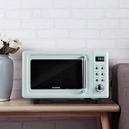 Amazon.com: Retro Countertop Microwave Oven, 700W 18L Small ...