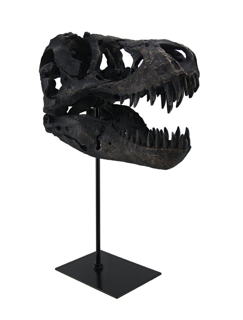 Zeckos T-Rex Dinosaur Skull Mounted Tyrannosaurus Rex Fossil Statue by Zeckos