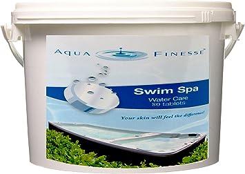 "AquaFinesse Swim Spa Tablets – 80 Count Bucket 1"" Tablets"