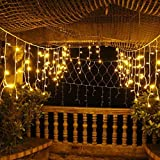 Solar String Lights Outdoor Garden Decorative Light Sogrand 200LED Warm White Fairy Landscape Lighting for Party Patio Yard