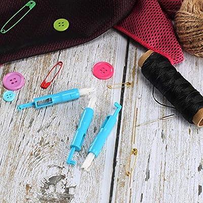 ManYee - 3 piezas de agujas de coser para máquina de enhebrar y ...