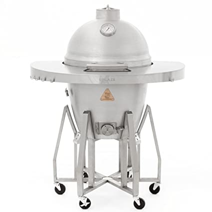 Amazon.com: Blaze independiente de aluminio fundido Kamado ...