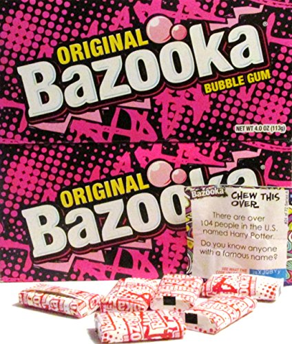Original Bazooka Individually Wrapped Activities