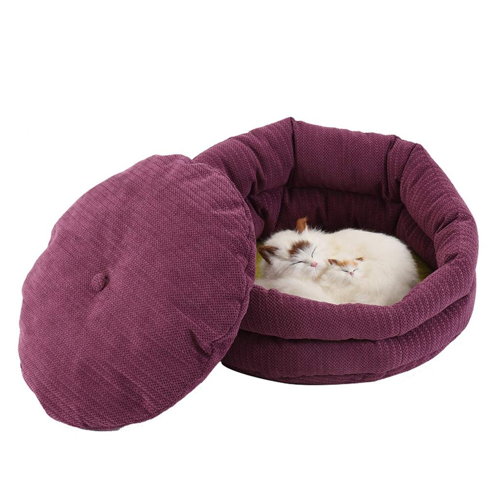 WANGXIAOLIN Pet nest, large, medium and small dogs, 47  18  42cm, dog sleeping mat, warm, pet sofa, windproof, purple, pet bed, environmental predection, breathable, four seasons universal