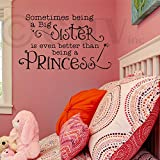 Sometimes Being a Big Sister (M) Wall Saying Vinyl Lettering Home Decor Decal Stickers Quotes