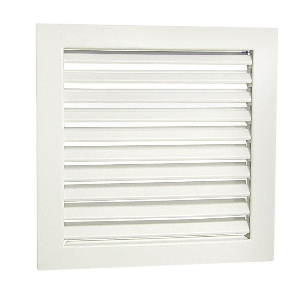 Rejilla de KG 2323 W Blanco 230 x 230 mm de ventilaci/ón con bastidor de montaje