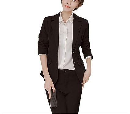 Pantalones Formales Para Mujer Traje De Oficina Estilo Dama Uniforme Diseno De Negocios Conjuntos De Dos Piezas Para Trabajo Talla Grande Xx Large Amazon Es Ropa Y Accesorios