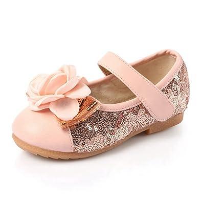 Amazon.com | CYBLING Flower Girl\'s Dress Shoes Sequins Princess ...