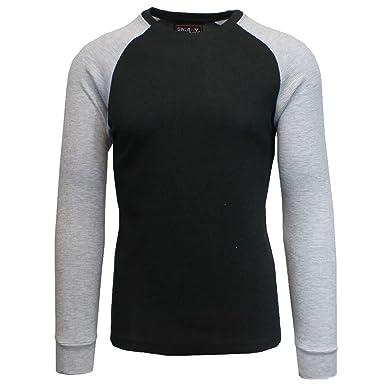 a6846ff47305 Galaxy by Harvic Mens Reglan Long Sleeve Thermal Stay Warm Layering Tee  Shirt from