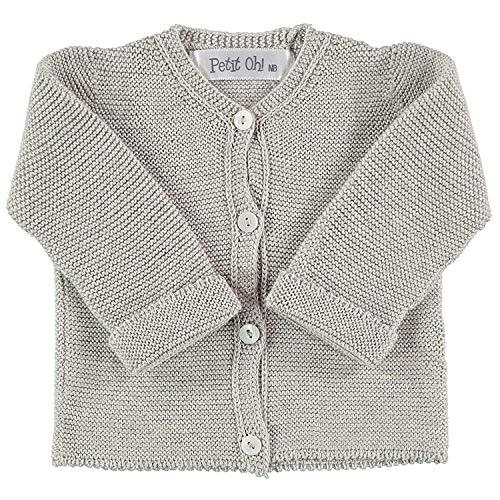 Petit Oh! - Chaqueta de Punto para bebé algodón 100% Talla ...