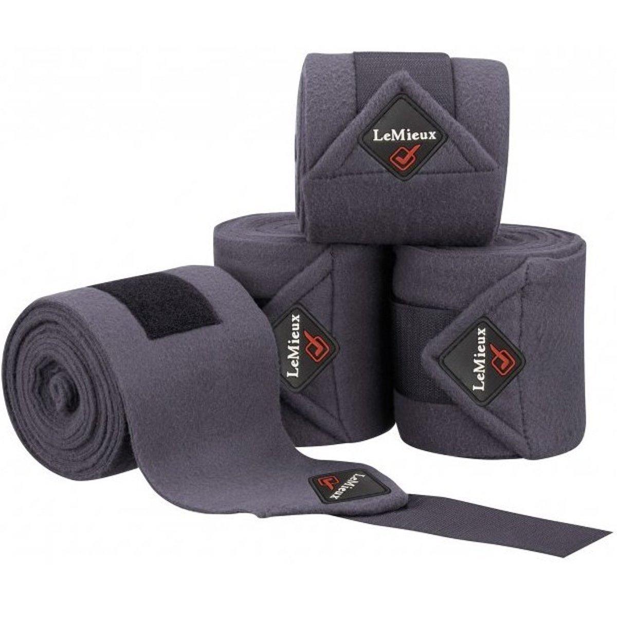 Le Mieux Luxury Fleece Polo Bandages (Gray, Full)