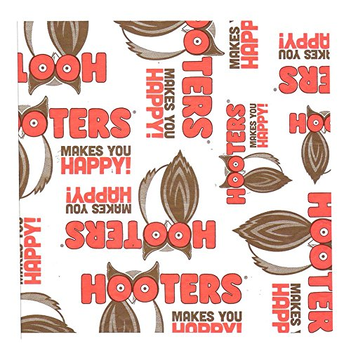 hooters-restaurant-logo-paper-wrap-liners-9x9-1000-sheets-per-box