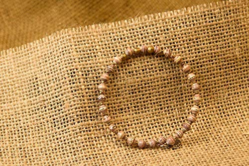 Paper Bead East African Bangle - Light Earthtone - Fair Trade BeadforLife Jewelry ()