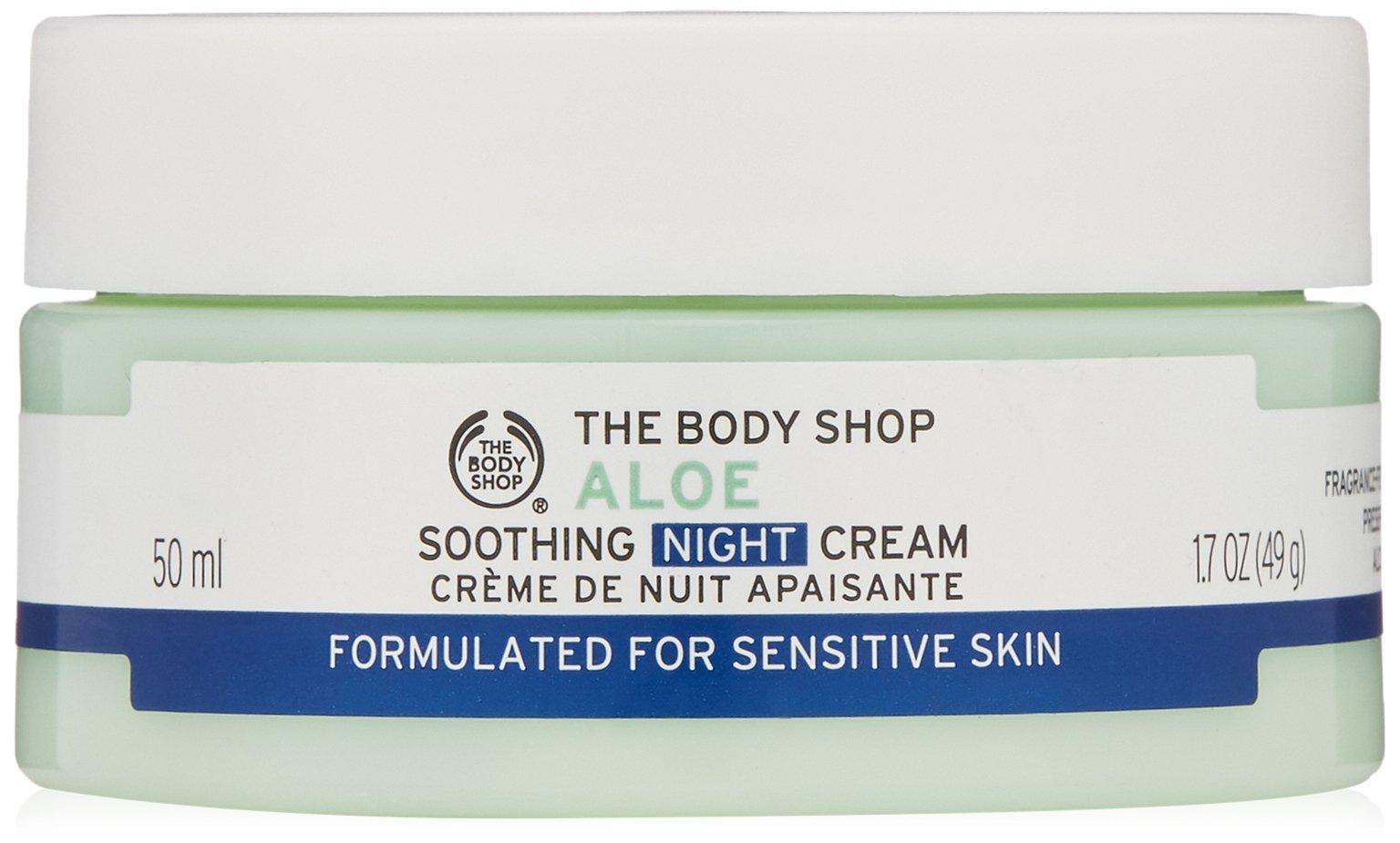 The Body Shop Aloe Soothing Night Cream, Paraben-Free Face Moisturizer, 1.7 Oz.