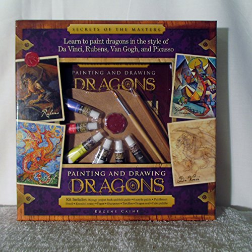 Painting and Drawing Dragons Secrets of the Masters Kit Includes project book , paints , & more by Eugene Caine 2010 (Metro Master)