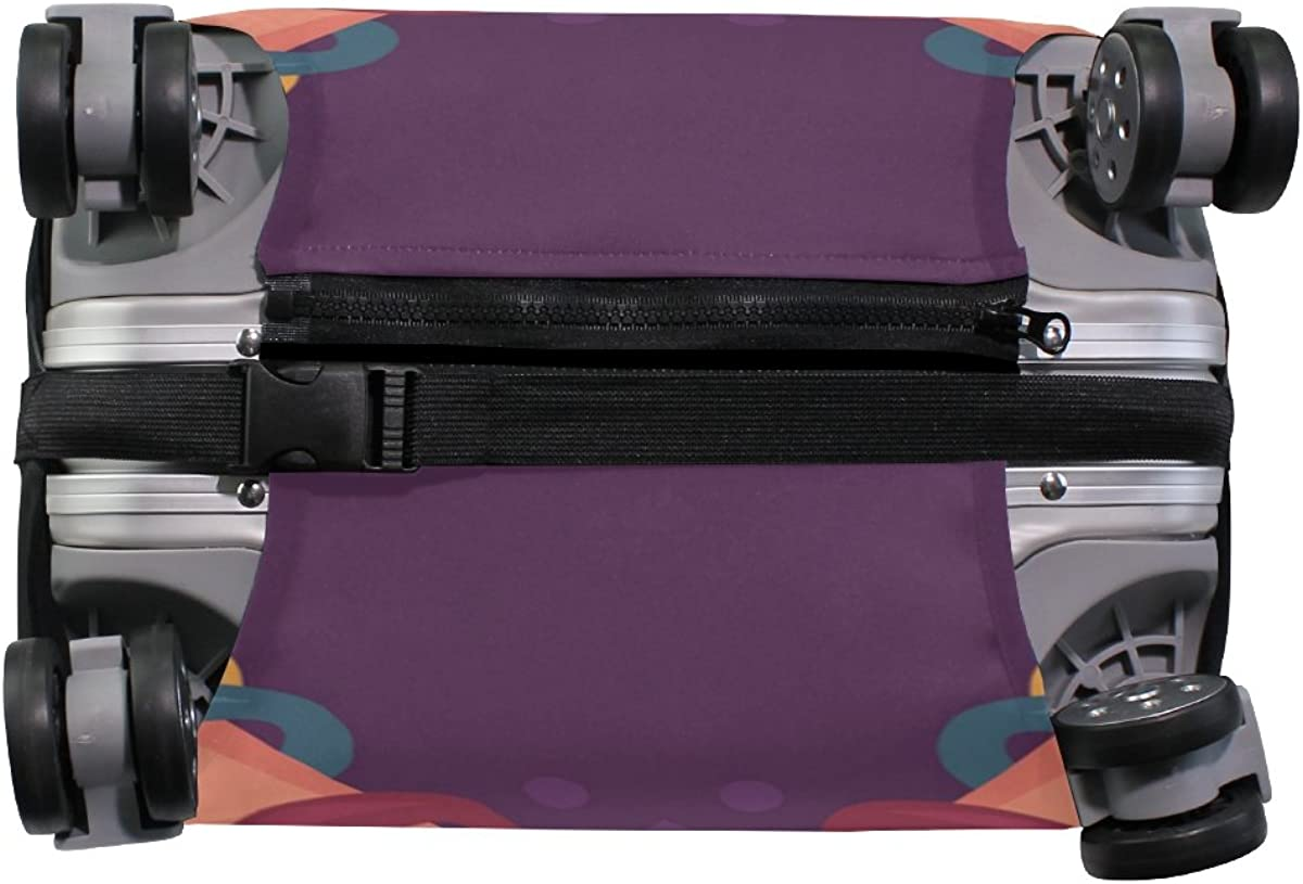 Namaste Greeting Travel Luggage Cover Stretchable Pulling Cloth Suitcase Protector Fits 18-20 Inches Luggage