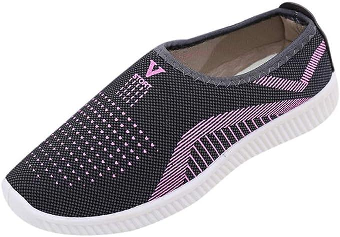 Amazon.com: Zapatos planos para mujer, de algodón, ligeros ...