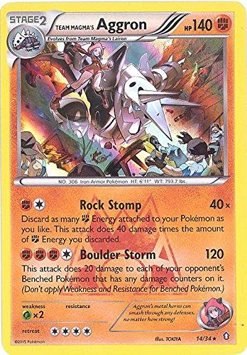 Pokemon - Team Magma39;s Aggron (14/34) - Double Crisis - Holo