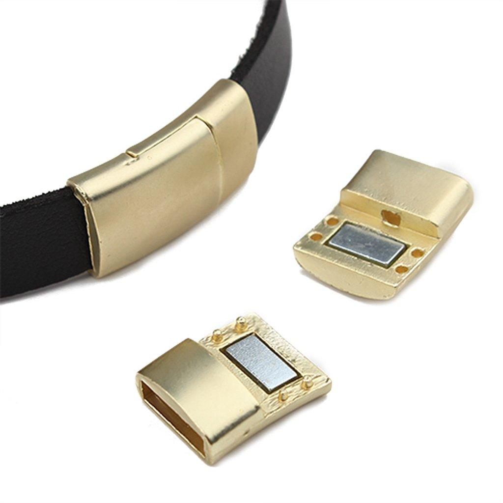 Generic 5pz Chiusure Magnetiche Connettore per Cintura Pelle Di Monili Artigianato