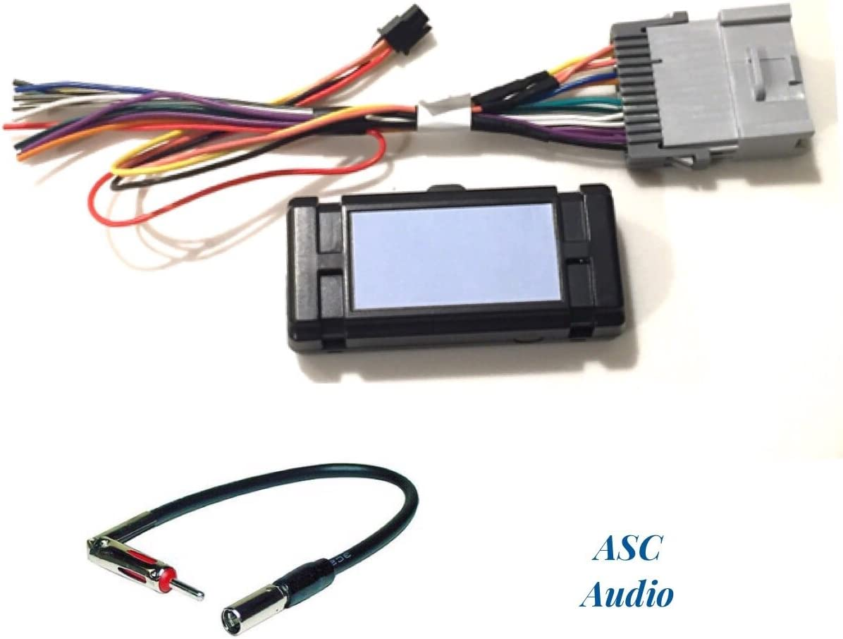 Amazon.com: ASC Audio Premuim Car Stereo Radio Wire Harness and Antenna  Adapter for Some GM Chevrolet 03-06 Silverado, Tahoe, Suburban, Sierra  etc.- Built in 12 Volt Power Wire - Works with and | 2012 Chevy Suburban Wiring |  | Amazon.com