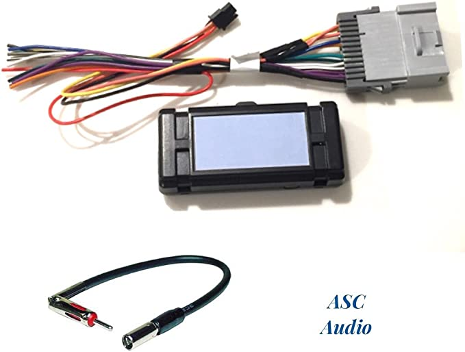Amazon.com: ASC Audio Premuim Car Stereo Radio Wire Harness and Antenna  Adapter for Some GM Chevrolet 03-06 Silverado, Tahoe, Suburban, Sierra  etc.- Built in 12 Volt Power Wire - Works with andAmazon.com