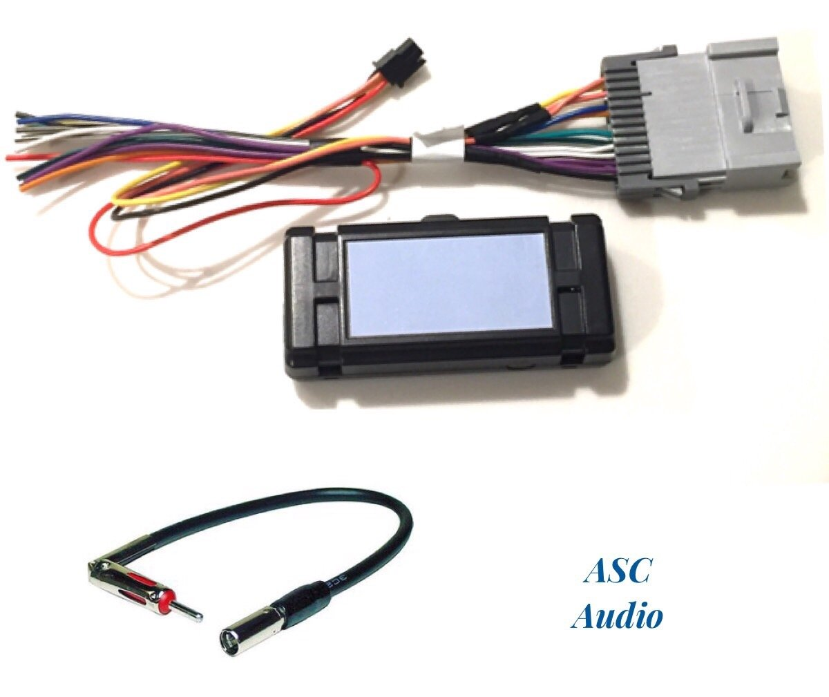 ASC Audio Premuim Car Stereo Radio Wire Harness and Antenna Adapter for Some GM Chevrolet 03-06 Silverado, Tahoe, Suburban, Sierra etc.- Built in 12 Volt Power Wire - Works with and Without Bose/Amp
