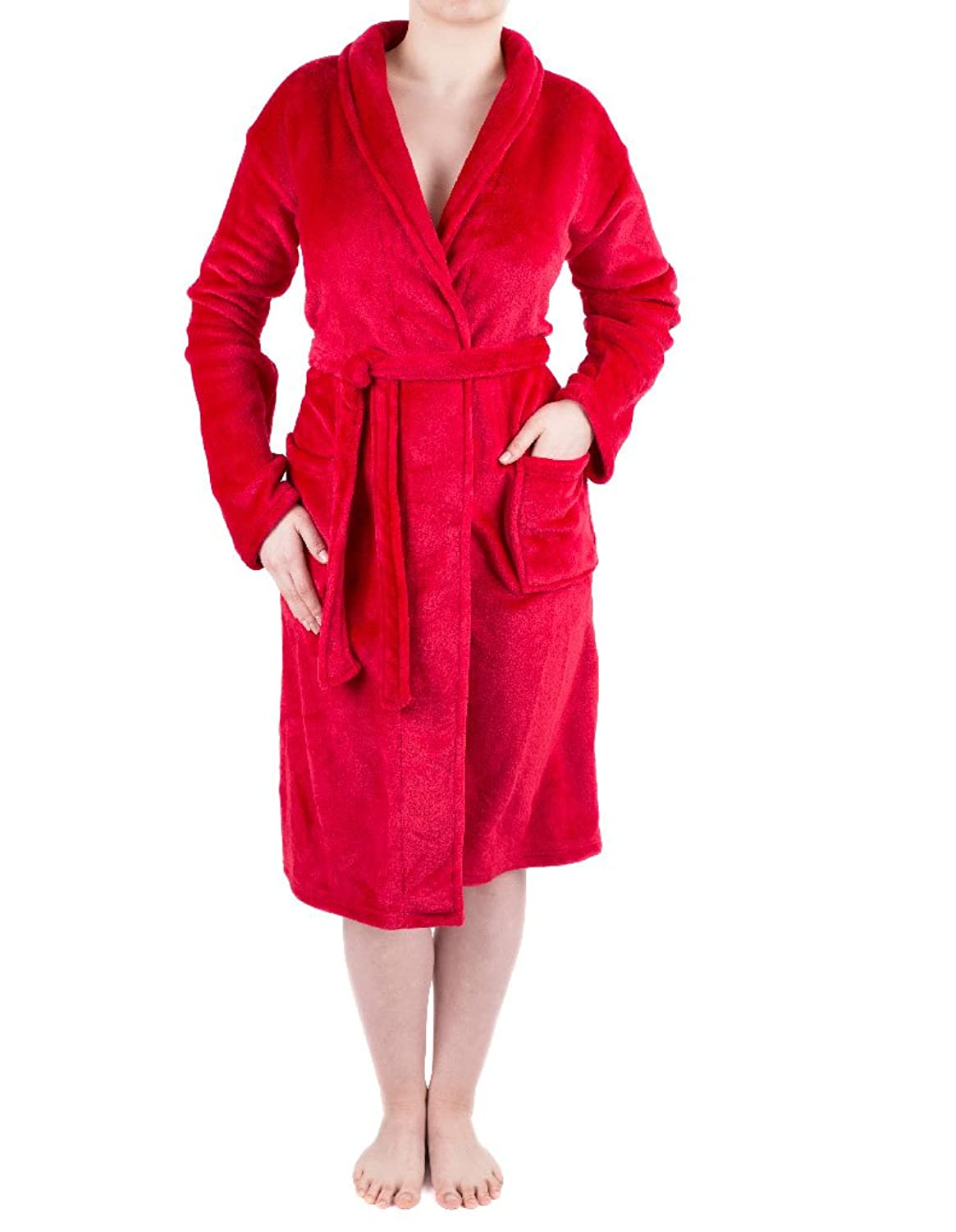 NSW Lounge Cosy Red Long Sleeve Robe 6960