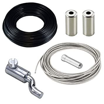 cyclingcolors Kit de reparación cortacésped : Cable + Cable Exterior + Prisionero Tornillo Cable EN Z + Extremo del Cable Gas Acelerador Tractor MOTOCULTOR ...