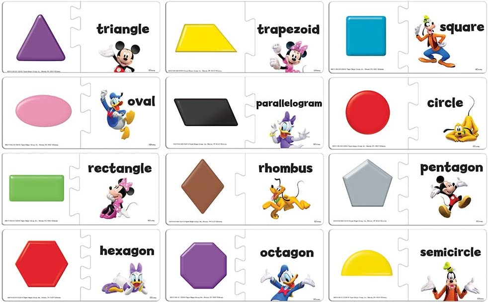 Eureka Disney's Mickey Mouse Clubhouse Back to School Shapes Puzzle for Kids, 12pc