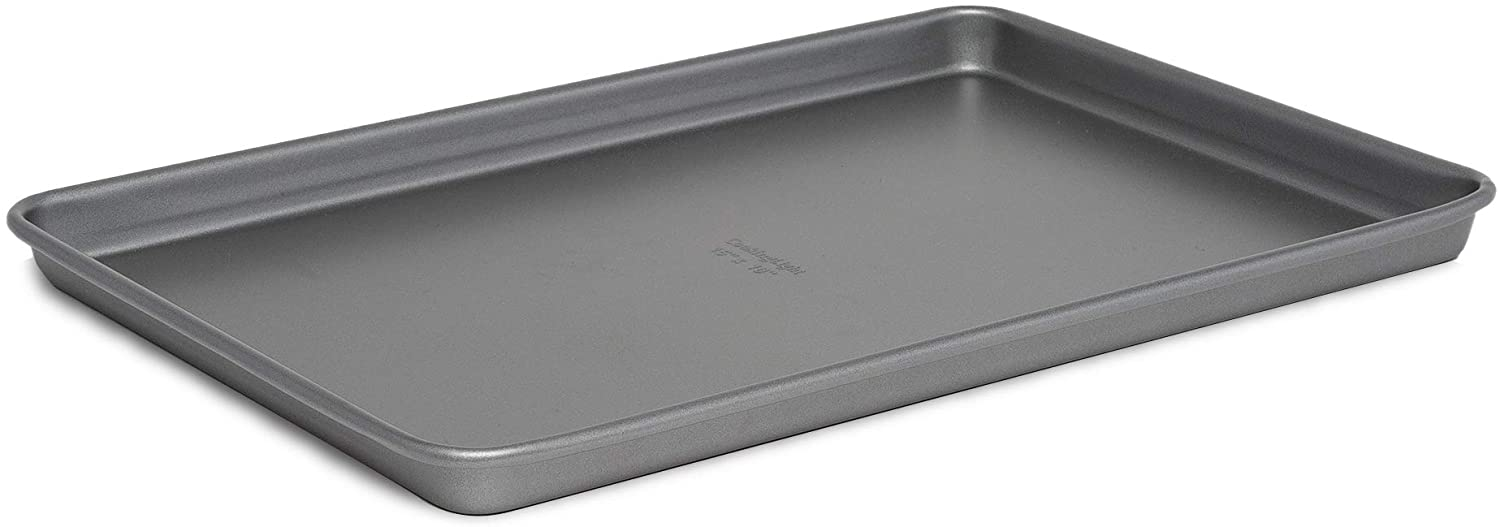 Cooking Light Baking Non-Stick Cookie Sheet, Rectangle Baker's, Carbon Steel, Heavy Duty Performance Pan, 15x10, Gray