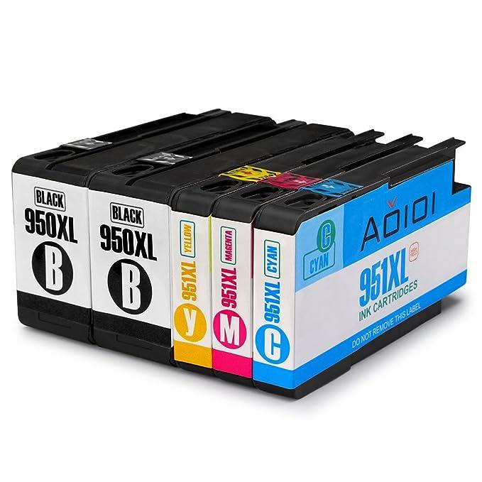 10 opinioni per Aoioi 950XL/951XL cartucce compatibili Sostituzione per HP 950XL 951XL(2 Nero, 1