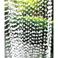 72 Inch White Polyester Garland Curtain Decorators Ambiance Setter Flower Garland Summer Party Ceremony Backdrop Wedding Reception Wedding Photo Prop Decor