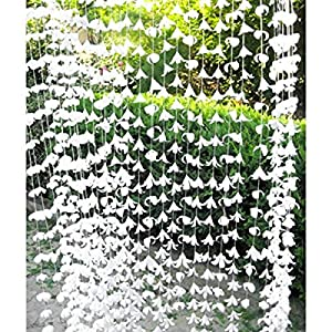 72 Inch White Polyester Garland Curtain Decorators Ambiance Setter Flower Garland Summer Party Ceremony Backdrop Wedding Reception Wedding Photo Prop Decor 74