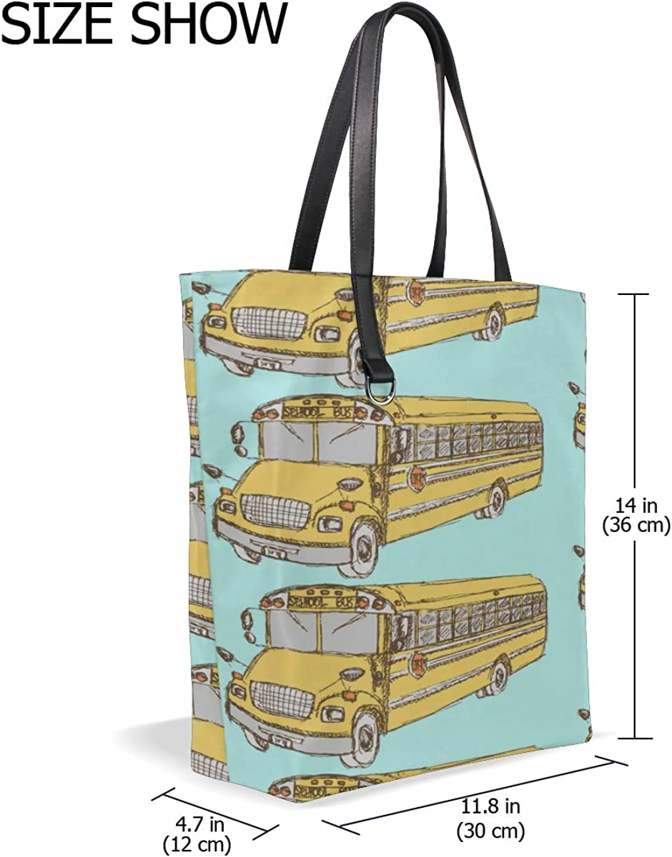 Womens Tote Bags Handle Satchel Bag Shoulder For Men Purse Messenger Bags Shoulder Tote Bag Cute Creative Transportation Car Bus Printing Work Tote