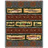 Pure Country Stripe Lodge Blanket Tapestry Throw