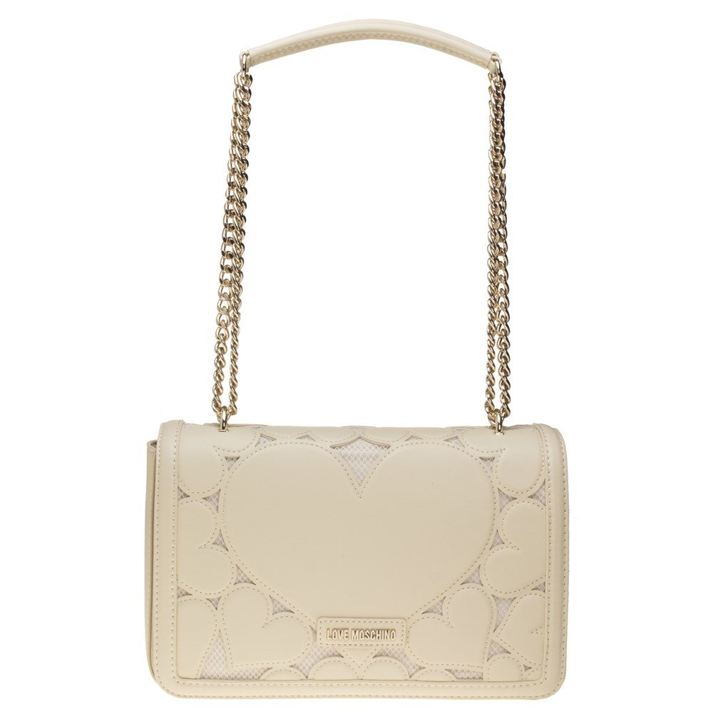 Love Moschino Chain Heart Womens Handbag Natural
