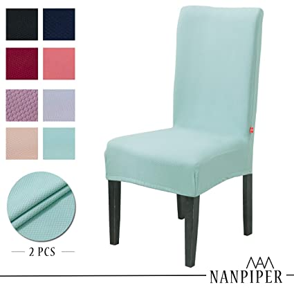 NANPIPER Dining Chair Slipcovers Washable Stretch Chair Covers For Dining  Room Spandex Stretch Fabric Home Décor